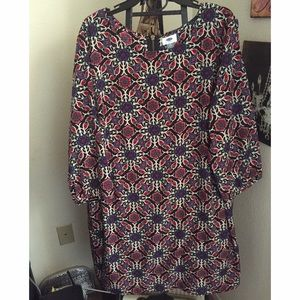 Multi-Print Shift Dress