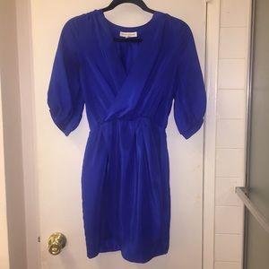 Amanda Uprichard Dresses & Skirts - Blue Silk faux wrap dress