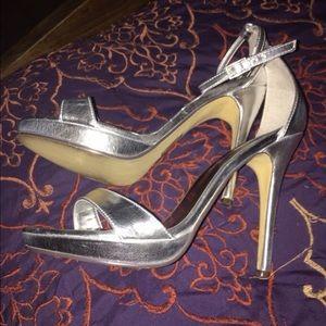 Michael Antonio Silver Strap Heels