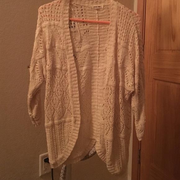 Pink Rose - Cream sweater cardigan from Mickie's closet on Poshmark