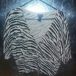 Torrid Zebra Print Cardigan