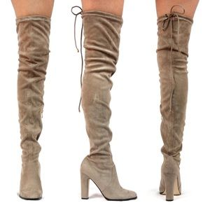 Sale-New Khaleesi Faux Suede Over the Knee Boot