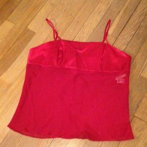 Valerie Stevens Other - Red Silky Lingerie Top