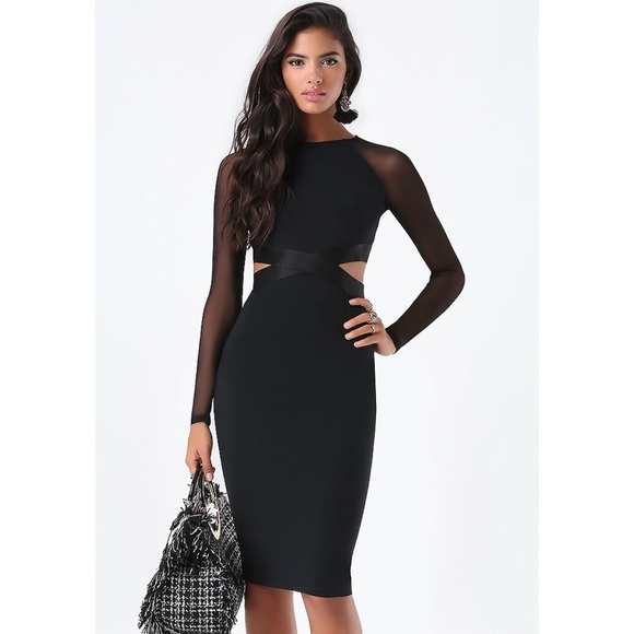 Bebe Melanie Cutout Mesh Dress Nwt