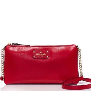 Kate spade Wellesley red crossbody messenger bag