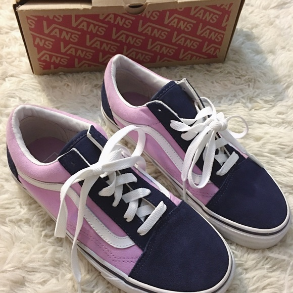 huge inventory special for shoe new arrive VANS Old Skool purple & navy blue