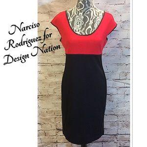 Narciso Rodriguez Dresses & Skirts - NARCISO RODRIGUEZ/DESIGN NATION COLOR BLOCK DRESS