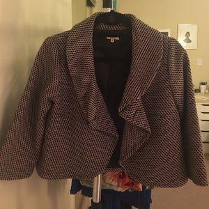 Jackets & Blazers - Bloomingdales Pink & Black Coat