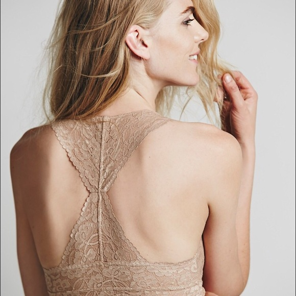 50 Off Other Scallop Lace Racerback Bralette From Liz S