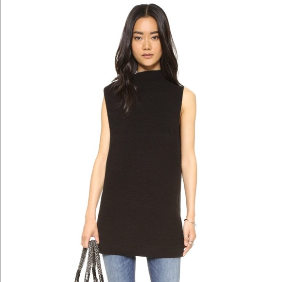 11529566a20 Free People XS Isla Ottoman sweater tunic in black