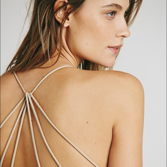 36435695fcd596 LAST ONE! Nude Strappy Back Bralette