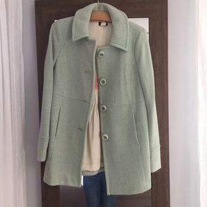 JCREW wool coat size 6. Mint green