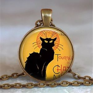 Le Chat Noir Glass And Brass Necklace
