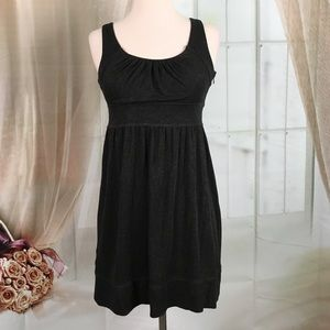 LOFT Dark Gray Sleeveless Short Dress