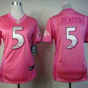 nfl Tops | Baltimore Ravens Pink Jersey