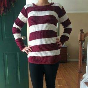 Maroon / White Fall/Winter Sweater