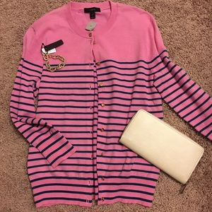 J. Crew Striped Sweater EUC
