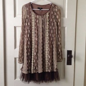 Anthropologie Dresses - Modcloth brand Ryu. New 👗Brown and cream dress