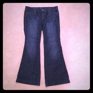 White House Black Market Denim - White House Black Market Trouser Leg Jeans