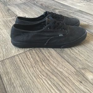 4dd35876cde28d Vans Shoes - All black thin sole vans