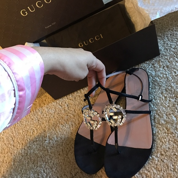 b981580f5b0 Gucci Shoes - GUCCI GG SPARKLING LEATHER SANDAL