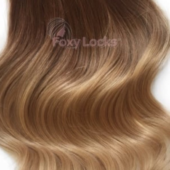 Foxy Locks Other 20 Clipin Hair Extensions In Honey Spice Ombr