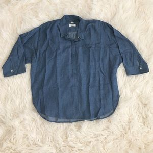 LOFT Tops - Denim Chambray Shirt