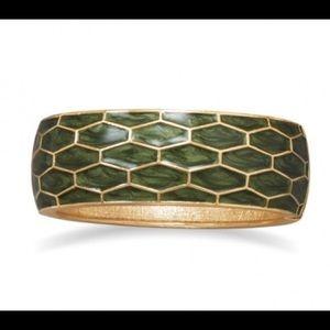 Jewelry - Pearlescent Green Fashion Bangle Bracelet