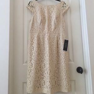J. Crew Dresses & Skirts - J. Crew Elsa Dress in Lace, Champagne, Sz 14. NWT