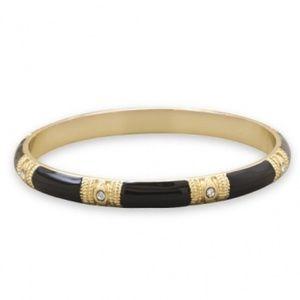 Jewelry - Black enamel Fashion Bangle Bracelet