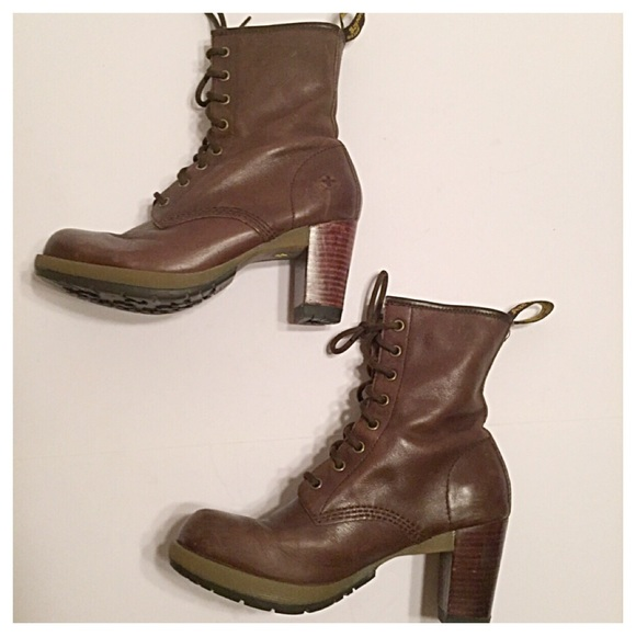 3a132dea8d85b Dr. Martens Shoes - Dr. Martens Brown Diva Darcie High Heeled Boots