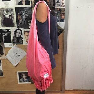 Handbags - Boho Bag - Fringed - Pink Tie Dye ❤️ Hobo