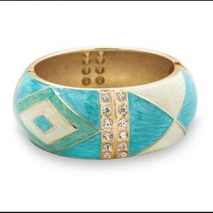 Jewelry - Pearlescent Turquoise Enamel Bangle Bracelet