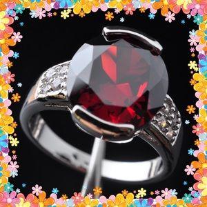 Jewelry - Garnet & Topaz gemstone silver ring
