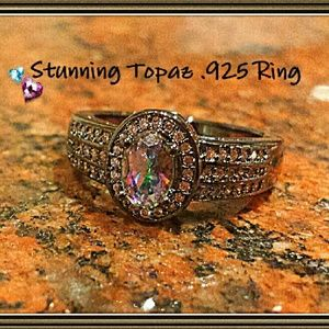 Jewelry - Gorgeous Colorful Topaz .925 Ring