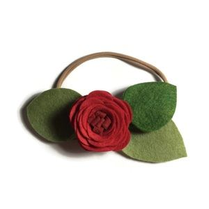 Other - Red flower headband, child, baby, headpiece, halo