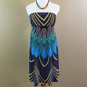 Peacock Print Dress Nicole by Nicole M