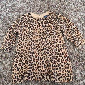 Baby gap leopard sweater dress