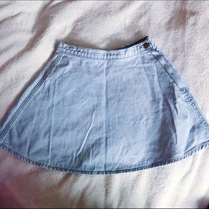 Brandy Melville Dresses & Skirts - BRANDY MELVILLE JEAN CIRCLE SKIRT