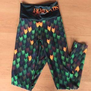 Mika Yoga Wear Pants - Figment costuming mermaid scales yoga leggings S