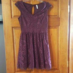 Xhilaration purple lace dress