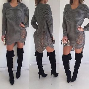 Sweaters - High low knitted dress