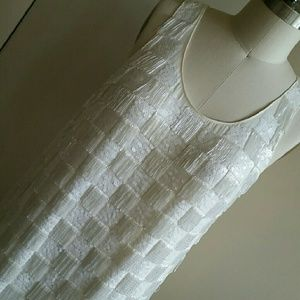 ERIN by Erin Fetherston Dresses & Skirts - Erin Fetherston Ivory Checker Beaded Dress