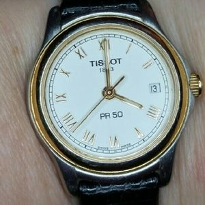 Tissot Accessories - Authentic Tissot pr50 Black Leather Strap  Watch