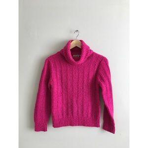  Barbie 70s Vintage Hot pink turtle neck sweater