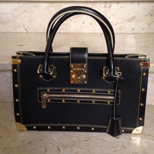 Louis Vuitton Suhali Le Fabulous Bag Black Gold