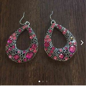 WINDSOR Jewelry - Pink Crystal Earrings