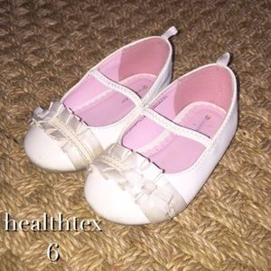 Healthtex Other - Healthtex White Slip On Dress Shoes With Ruffle 6