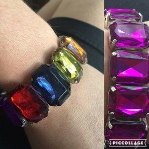 Jewelry - 2 Faux Gem Stretch bracelets