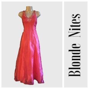 Blondie Nites Dresses & Skirts - Pink halter prom dress